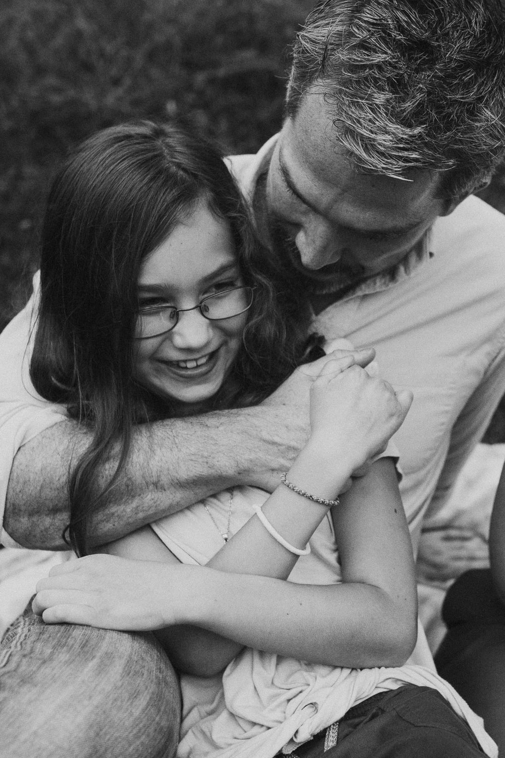 Black and white father daughter Lifestyle Documentary family The Barn at One Loudoun Ashburn Virginia Marti Austin Photography