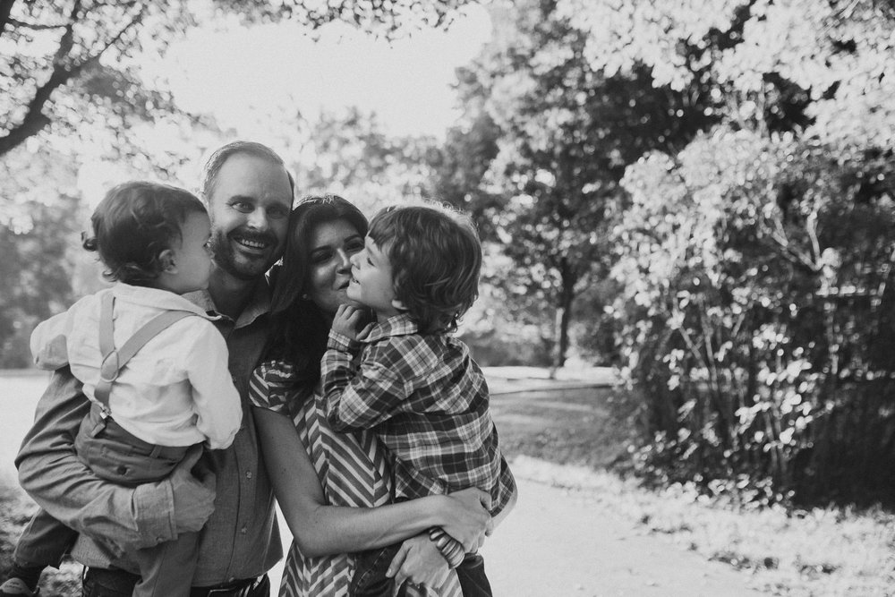 Black and white family of four brothers siblings Cabell's Mill Ellanor C. Lawrence Chantilly Fairfax Virginia Lifestyle Documentary Family Marti Austin Photography