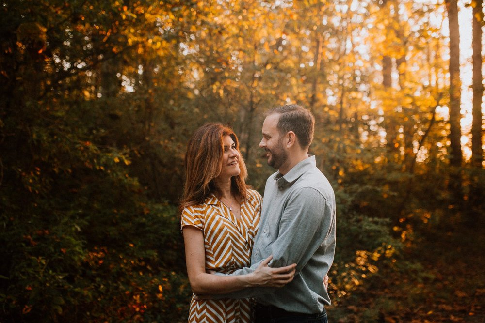 Couple parents sunset golden hour Fall Autumn Cabell's Mill Ellanor C. Lawrence Chantilly Fairfax Virginia Lifestyle Documentary Family Marti Austin Photography