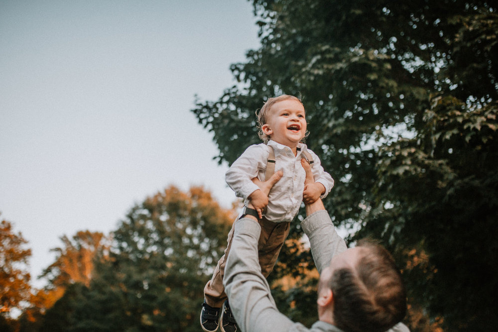father son throw lift airplane Fall Autumn Cabell's Mill Ellanor C. Lawrence Chantilly Fairfax Virginia Lifestyle Documentary Family Marti Austin Photography