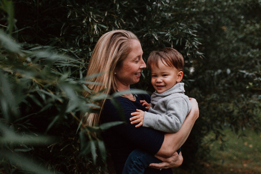 mother son hug laugh fall autumn family lifestyle documentary Claude Moore Park Sterling Virginia Marti Austin Photography