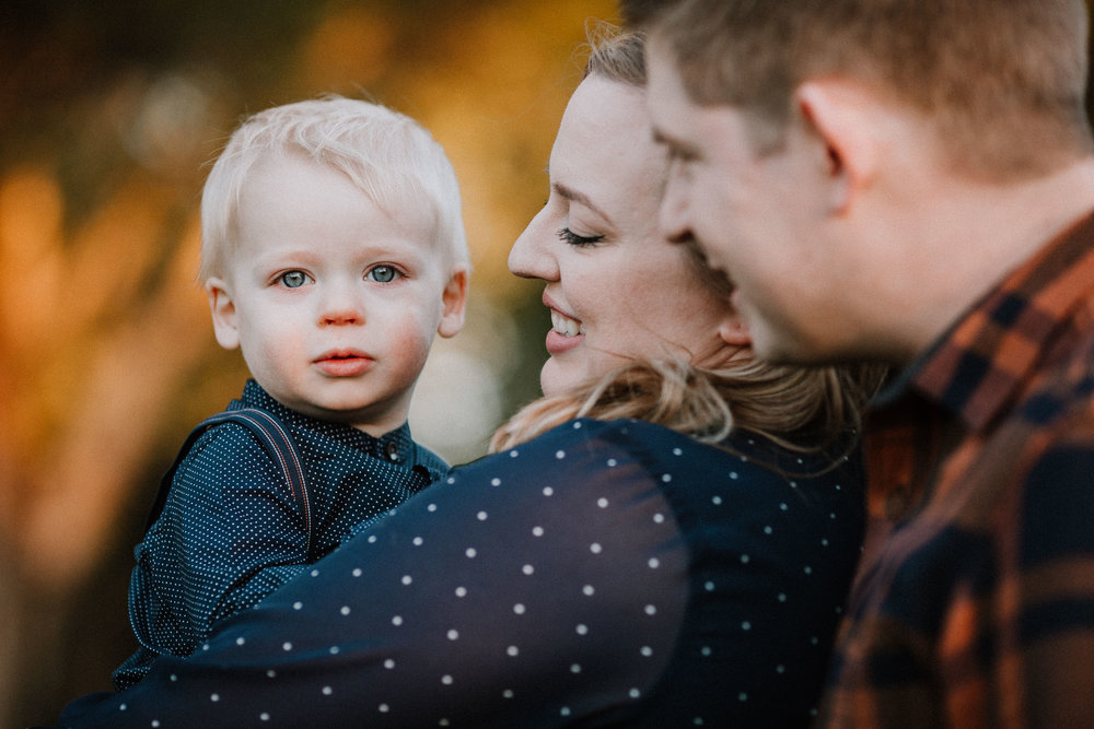 mother father son toddler family of three fall autumn lifestyle documentary Heritage Farm Museum Sterling Loudoun Virginia Family Marti Austin Photography