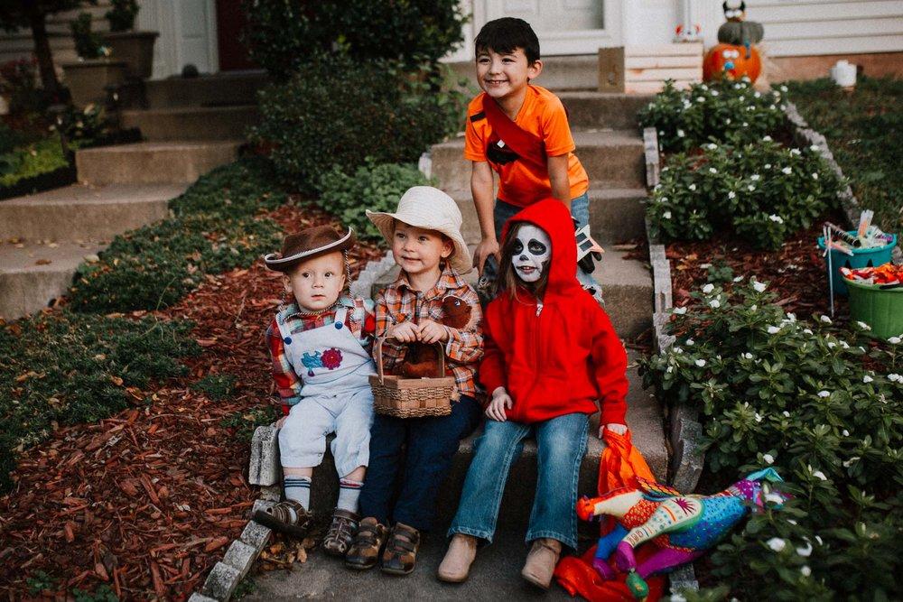 Halloween costume cowboy coco miguel dress up  fall Ashburn Loudoun Virginia Lifestyle Documentary Family Marti Austin Photography