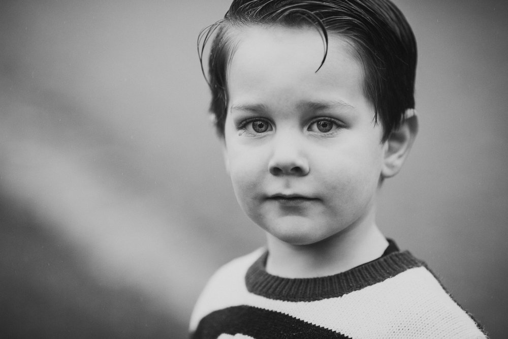 black and white toddler boy portrait fall autumn childhood family lifestyle documentary Rust Nature Sanctuary Leesburg Virginia Marti Austin Photography