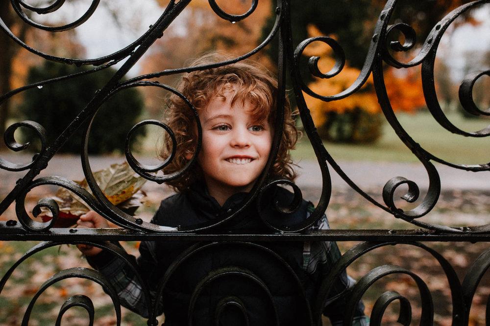 boy portrait fall autumn family lifestyle documentary Morven Park Leesburg Loudoun Virginia Marti Austin Photography