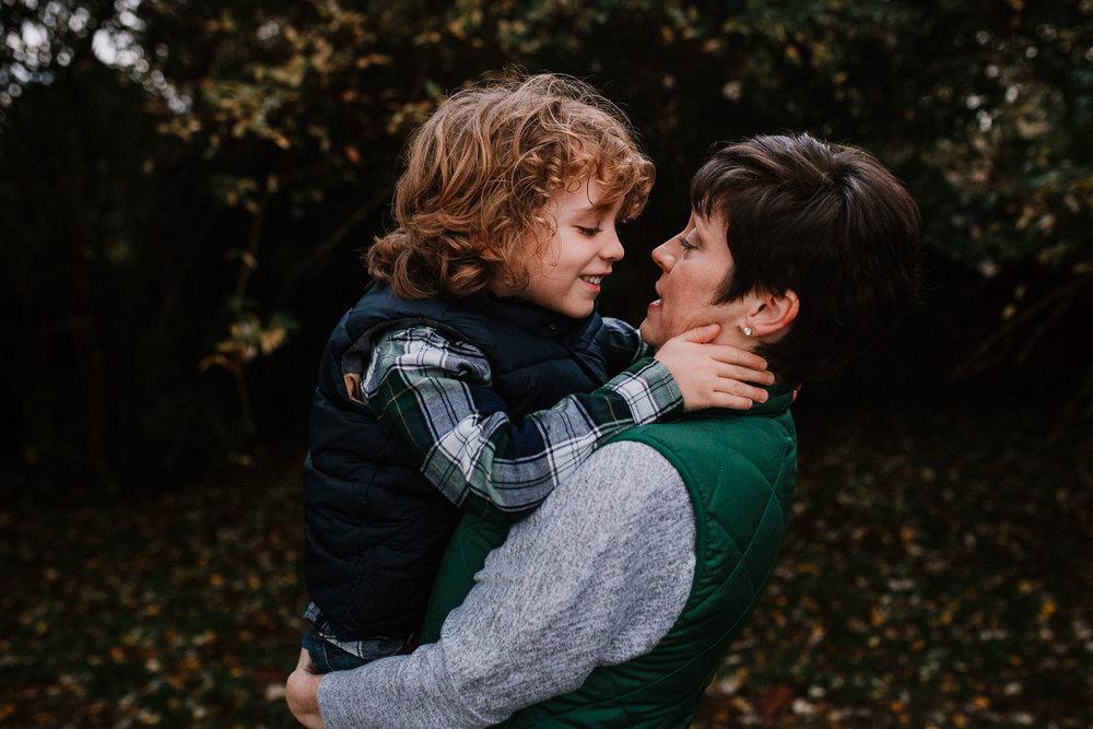 mother son fall autumn family lifestyle documentary Morven Park Leesburg Loudoun Virginia Marti Austin Photography