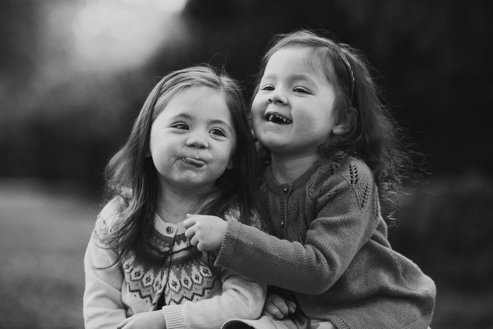 black and white sisters siblings twins family fall autumn lifestyle documentary Morven Park Leesburg Loudoun Virginia Marti Austin Photography