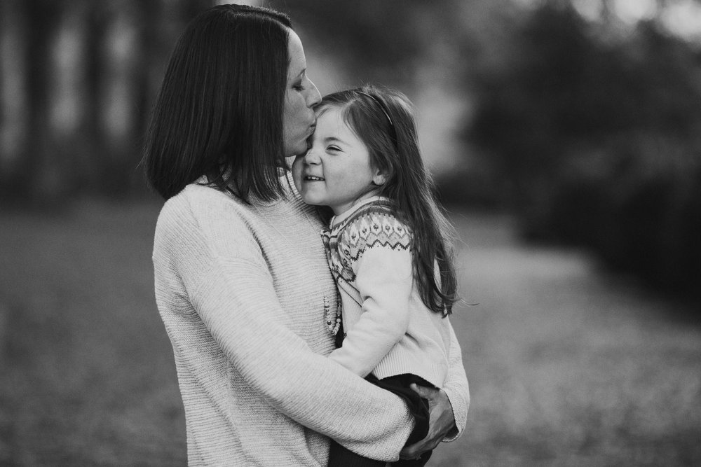 black and white mother daughter family fall autumn lifestyle documentary Morven Park Leesburg Loudoun Virginia Marti Austin Photography