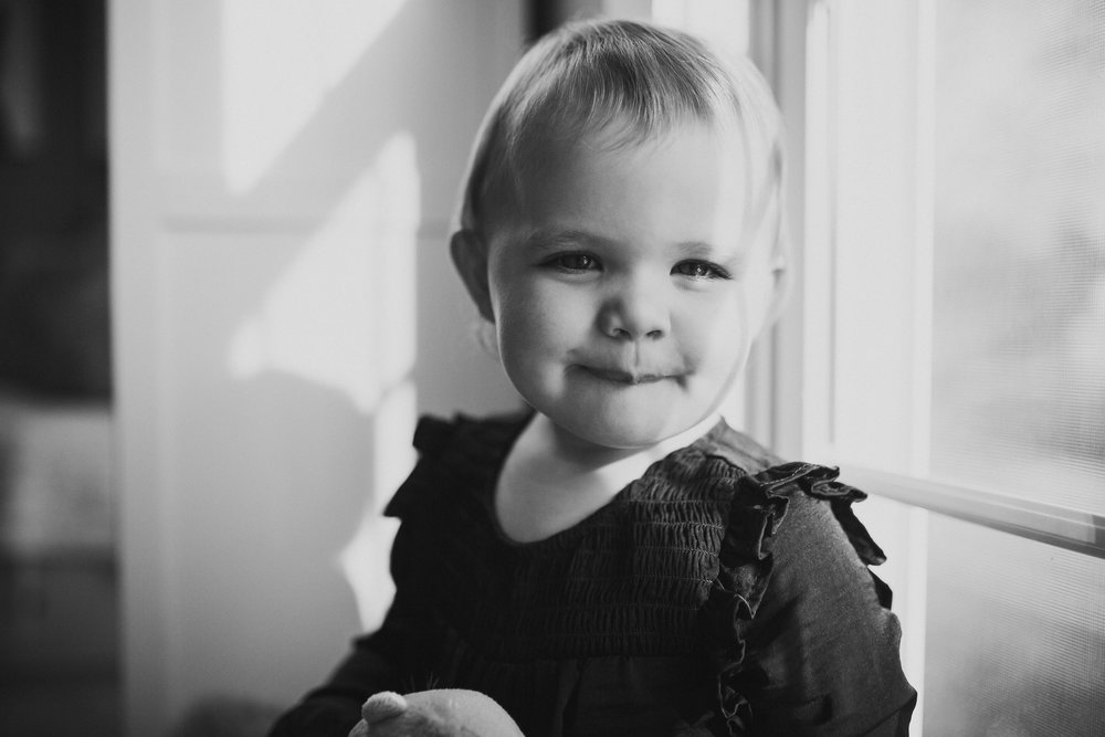 black and white toddler portrait fall autumn lifestyle documentary newborn family Great Falls Virginia Marti Austin Photography
