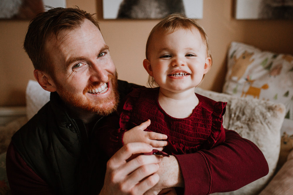 father daughter toddler fall autumn lifestyle documentary newborn family Great Falls Virginia Marti Austin Photography
