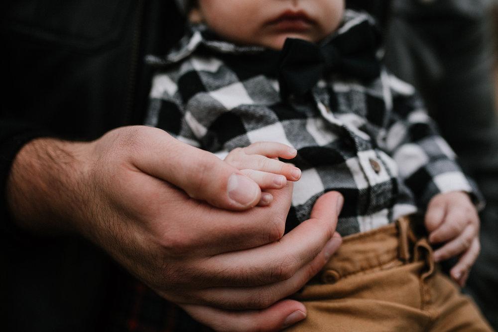 father son hands details baby boy Christmas Holiday Lifestyle Documentary Family Ashburn Loudoun Virginia Marti Ausitn Photography
