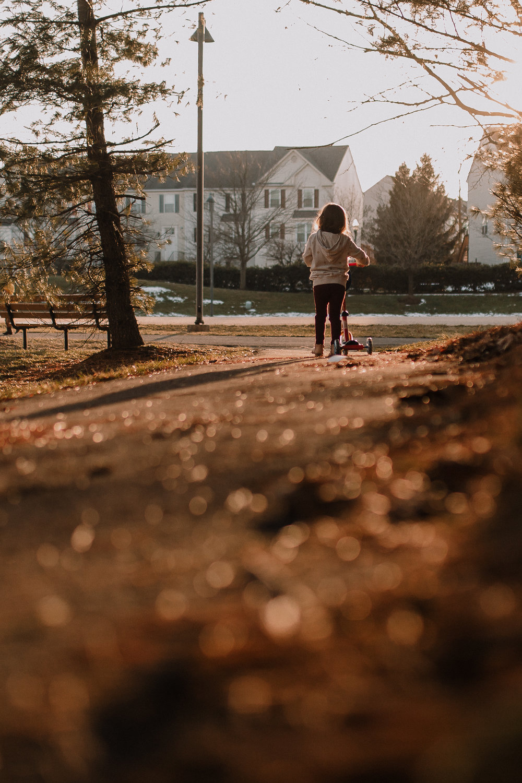 scooter sunset golden hour childhood bokeh lifestyle documentary Ashburn Virginia Marti Austin Photography