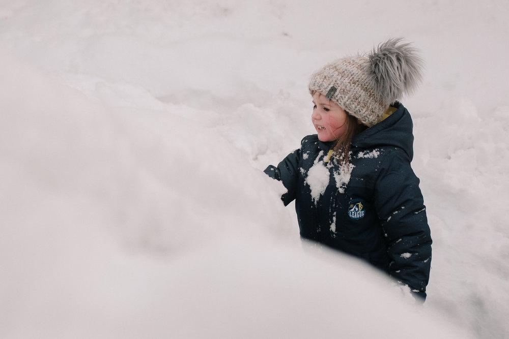 girl snow winter portrait childhood lifestyle documentary Ashburn Virginia Marti Austin Photography