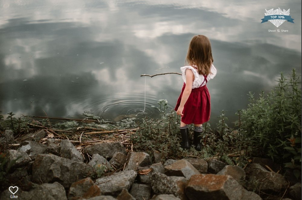 girl fishing pinaore lifestyle documentary ashburn loudoun virginia shoot and share contest Marti Austin Photography