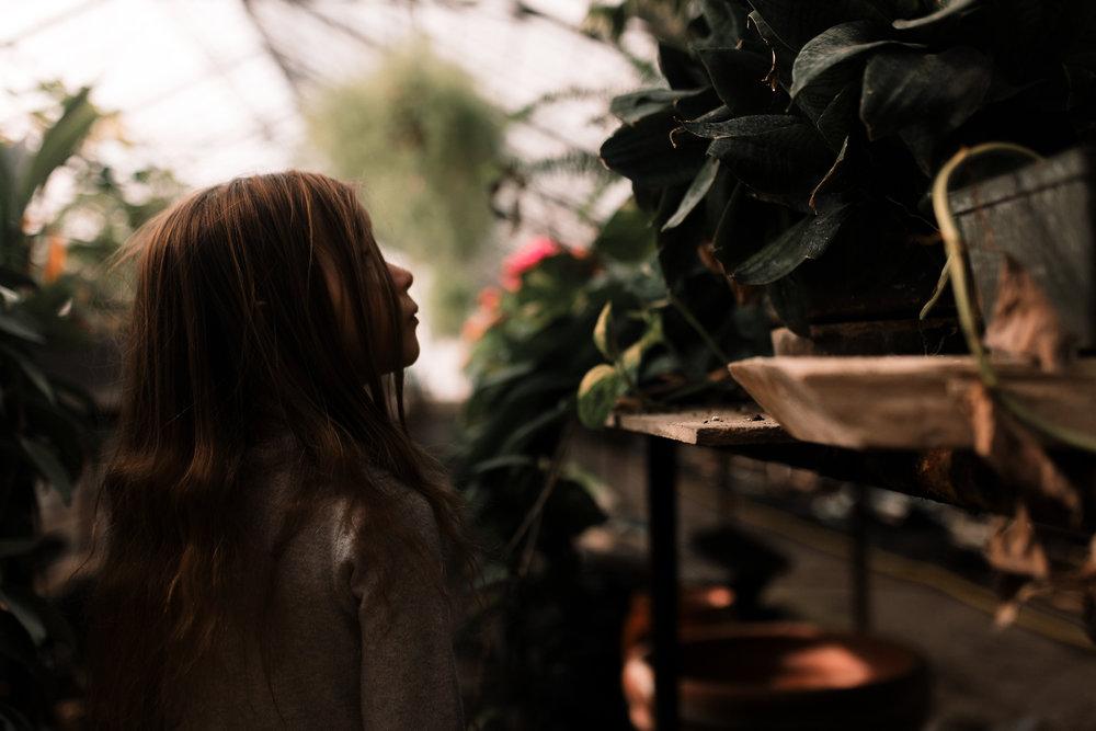 greenhouse girl plants lifestyle documentary family Ashburn Loudoun northern Virginia  childhood Marti Austin Photography