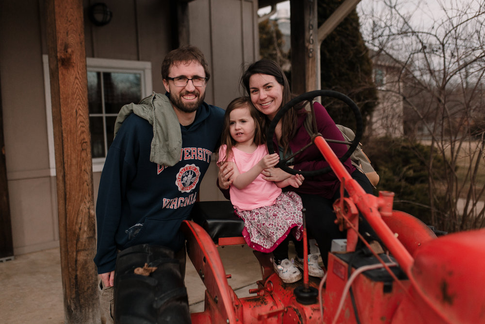mother father daughter tractor Claude Moore Park lifestyle documentary family Ashburn Loudoun northern Virginia  childhood Marti Austin Photography