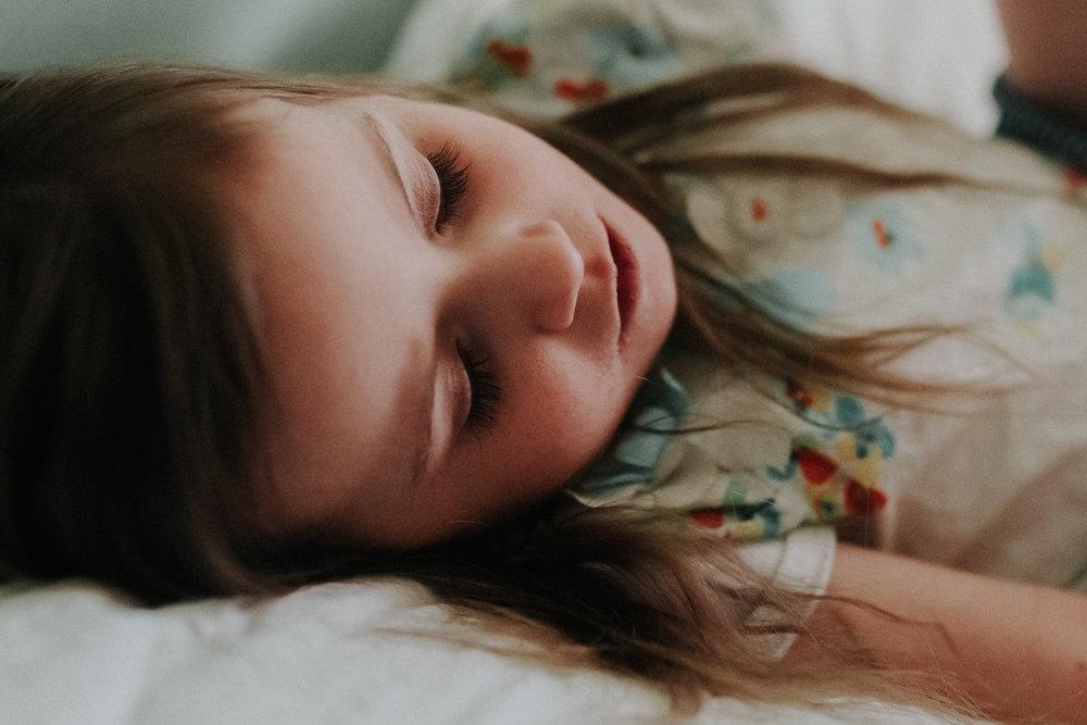 girl sleeping lifestyle documentary family Ashburn Loudoun northern Virginia  childhood Marti Austin Photography