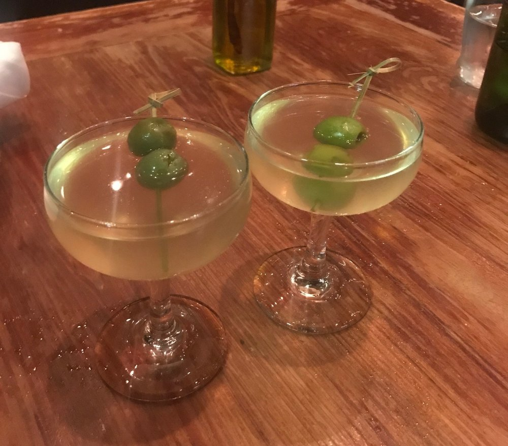 Extra dirty gin martinis, because we were feeling extra.