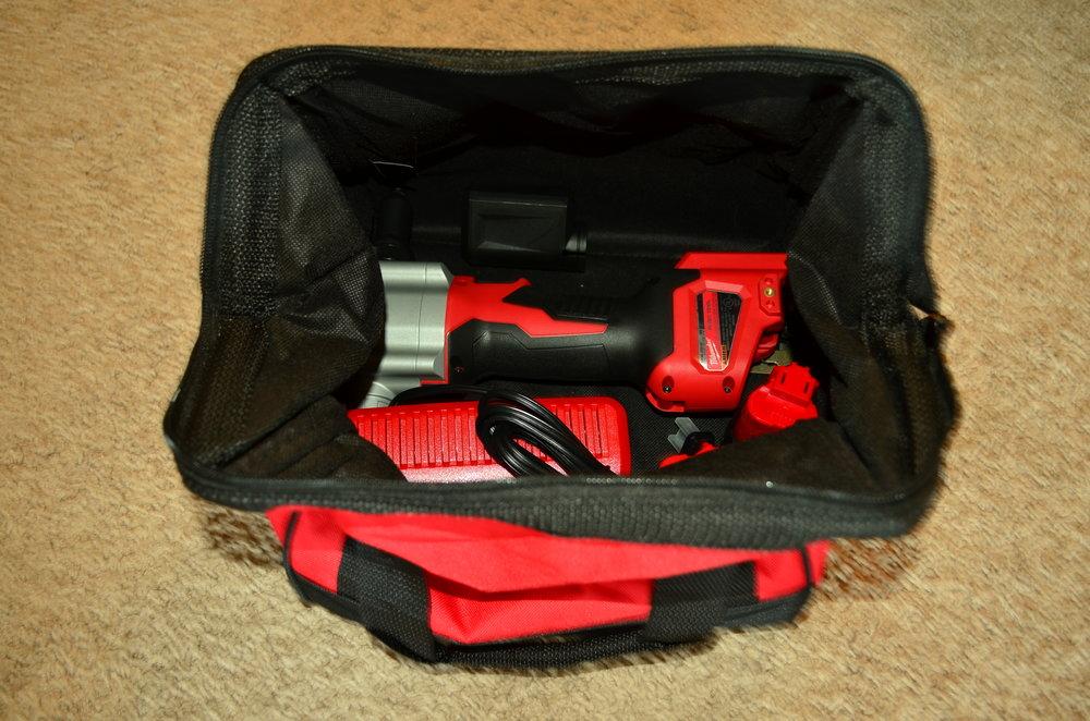 Milwaukee Rivet Gun in Tool Bag