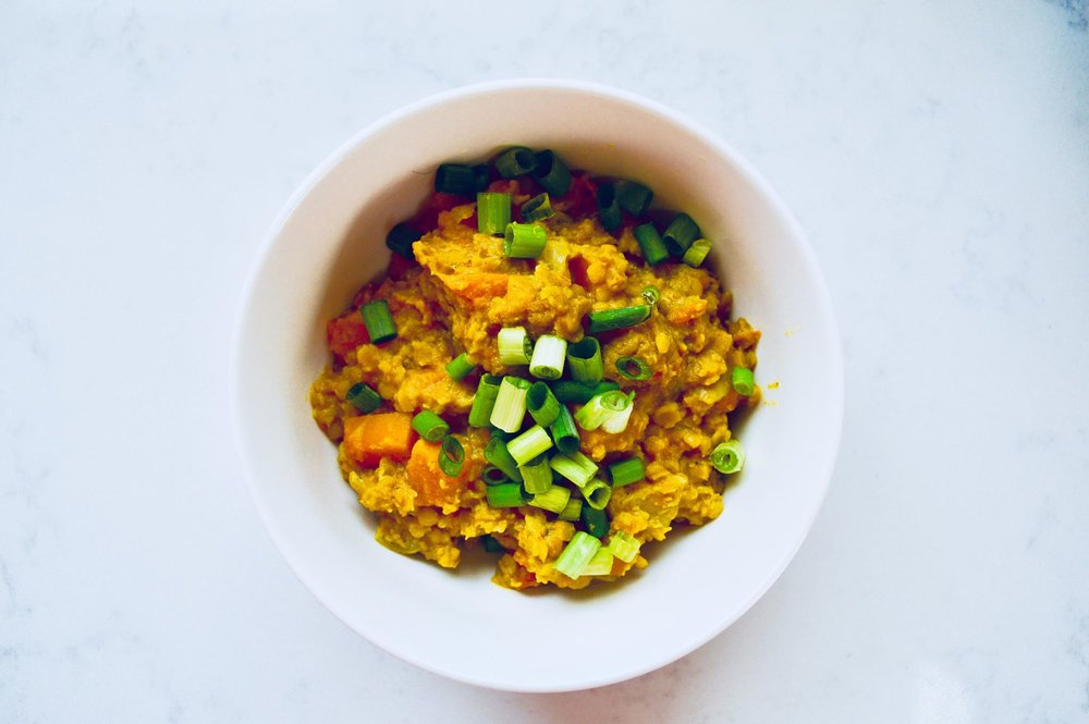 butternut squash lentil curry