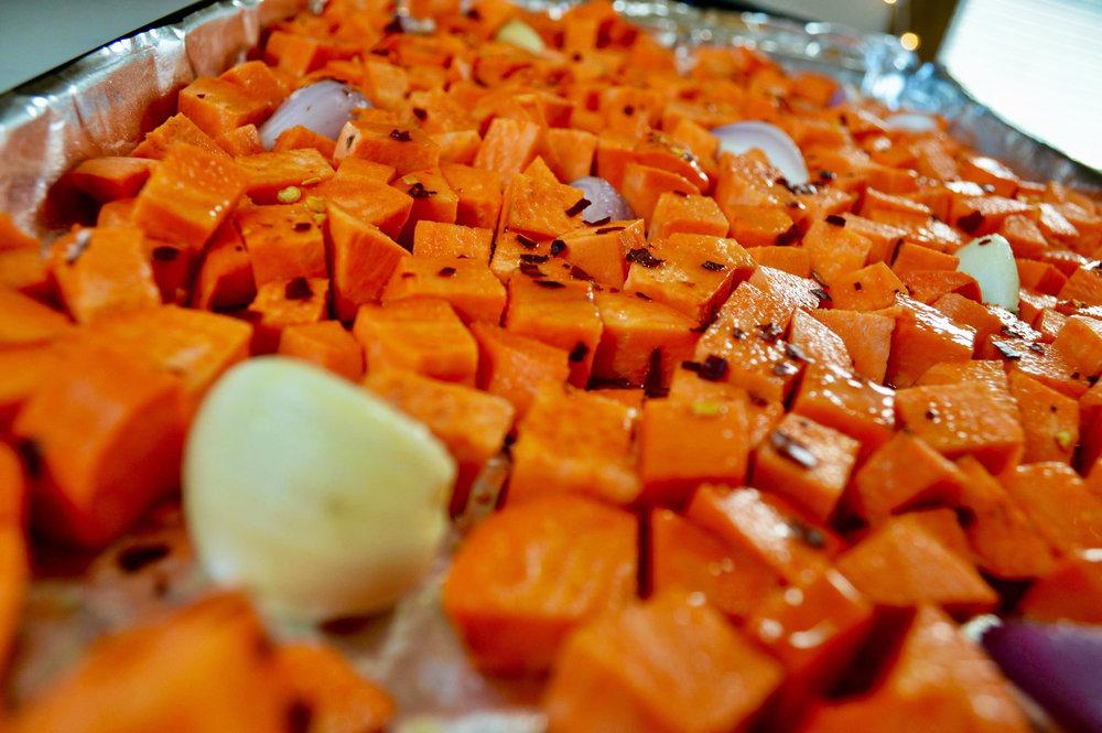 roasted yams
