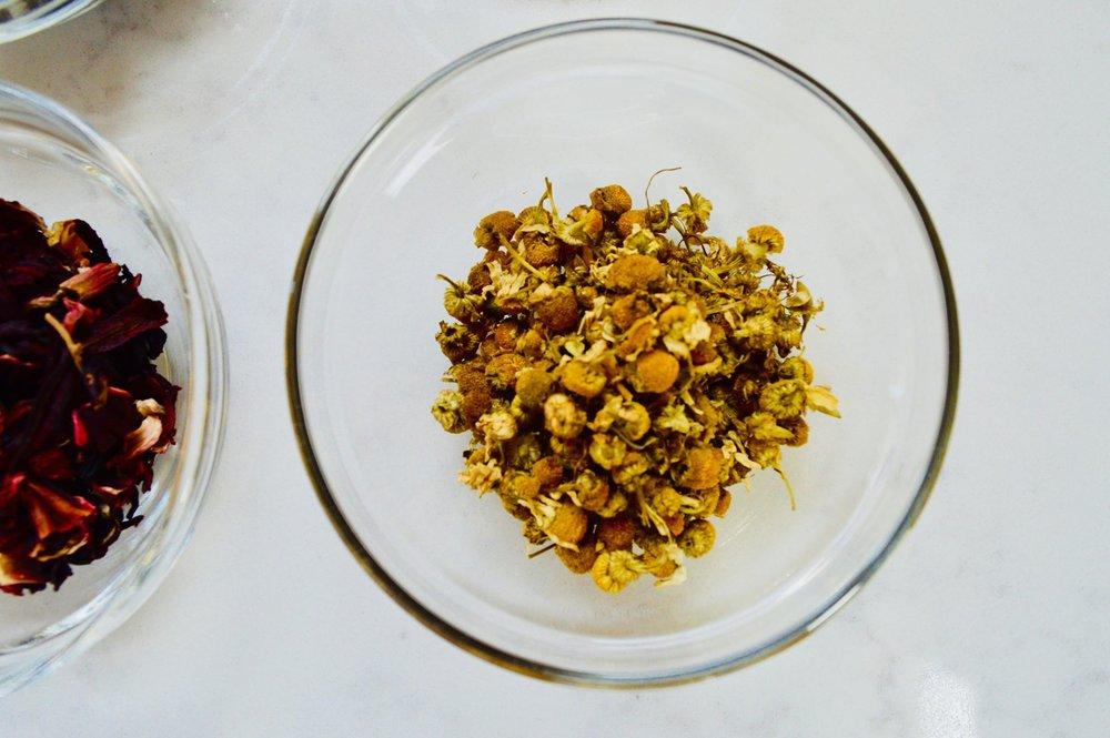 chamomile, self care, herbal tea, stress