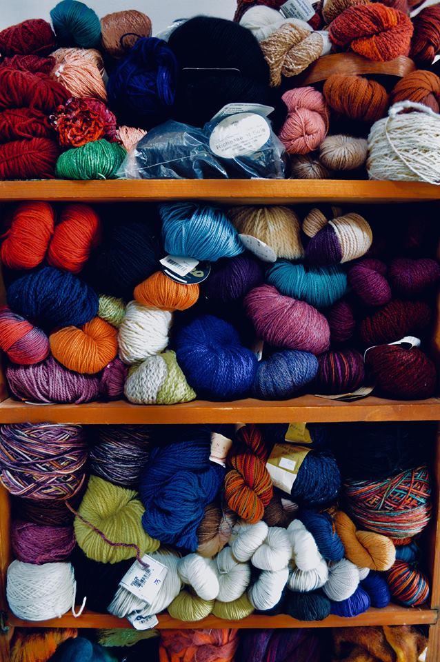 yarn, yarn stash, fibers, natural dye, knitting, crochet, weaving