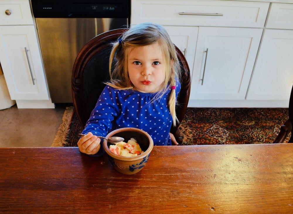 homemade ice cream, raw milk ice cream, sweetheart, farm kid