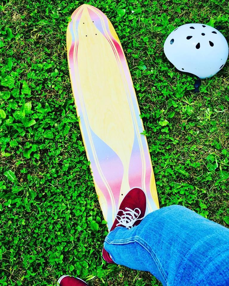 longboard, skating family, active life, family fun
