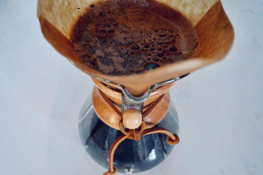 chemex, pour over coffee, small batch, homebrew, cuppa