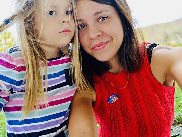 I voted with my girl. I voted for my girl. #ivotedselfie 👊 . . .  #ivoted #midtermelections #progressive #necessaryselfie