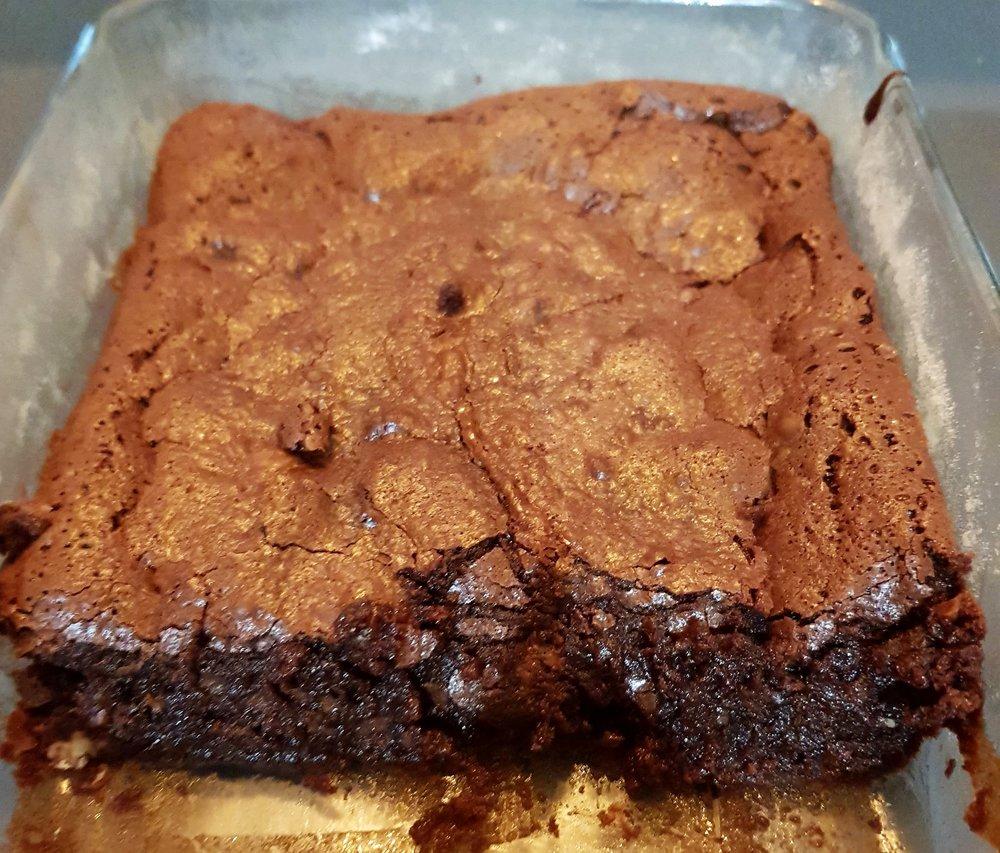 Brownies - Un brownies à la limite du fondant au chocolat. Un délice …