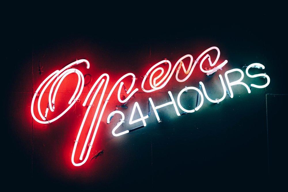 Autre avantage du shopping en ligne : Pas d'horaire à respecter !