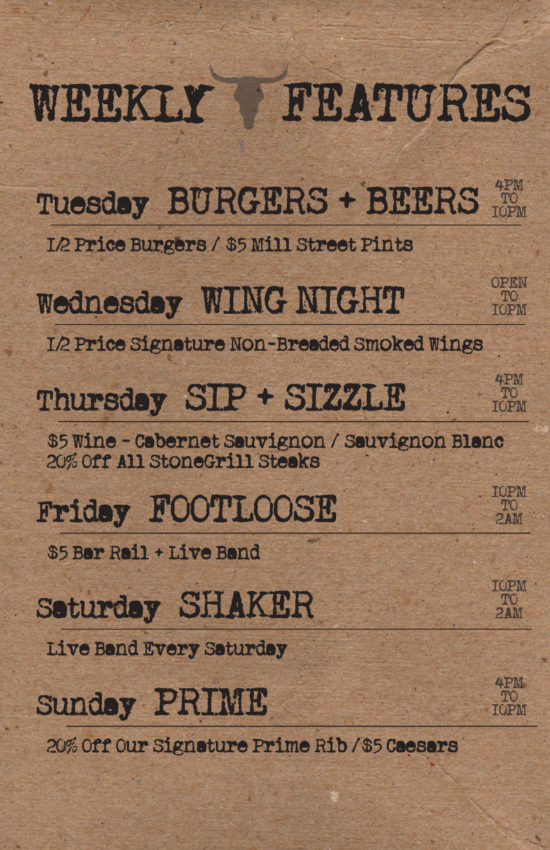 Crazy Horse Weekly Features
