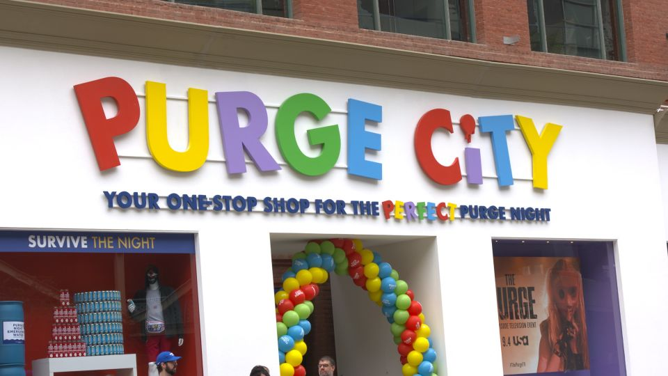 The Purge promoted their new streaming series with a Party City like activation that allowed con-goers to stock up on needed Purge items to prepare in a very tongue and cheek activation.