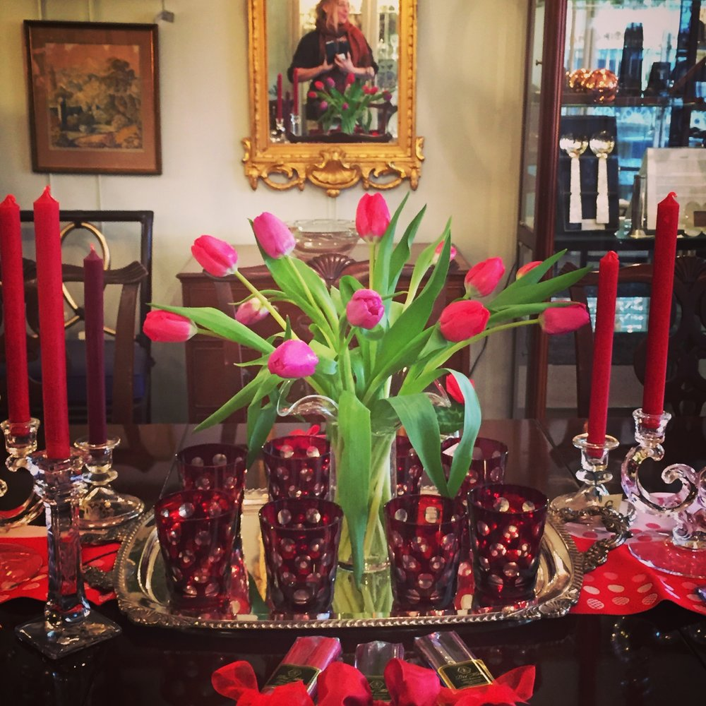 Valentine party tablescape