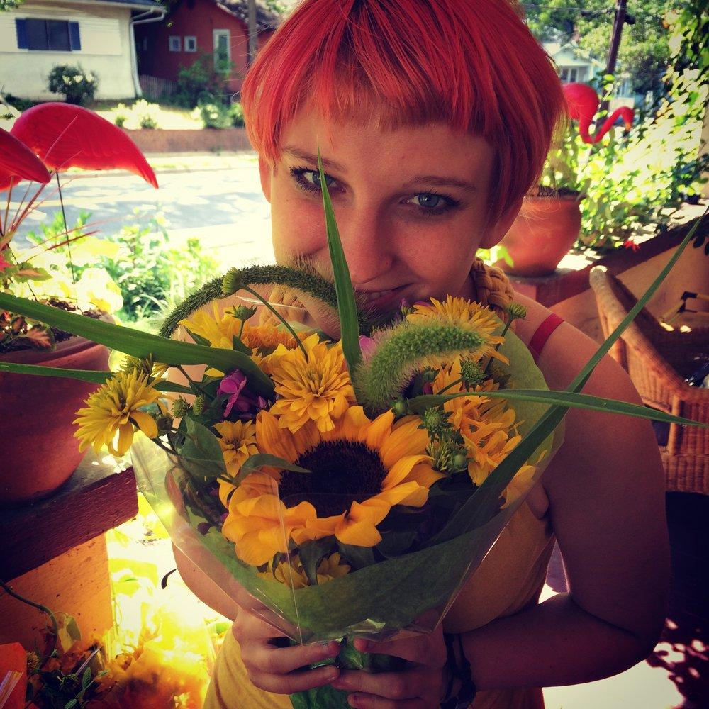 sonja sunflower.JPG