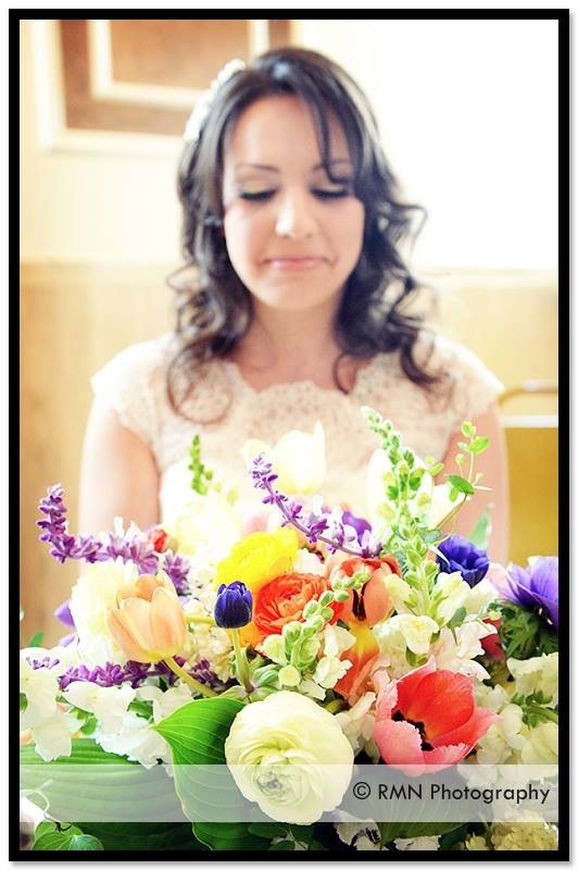 early May flowers and sweet bride, Ally