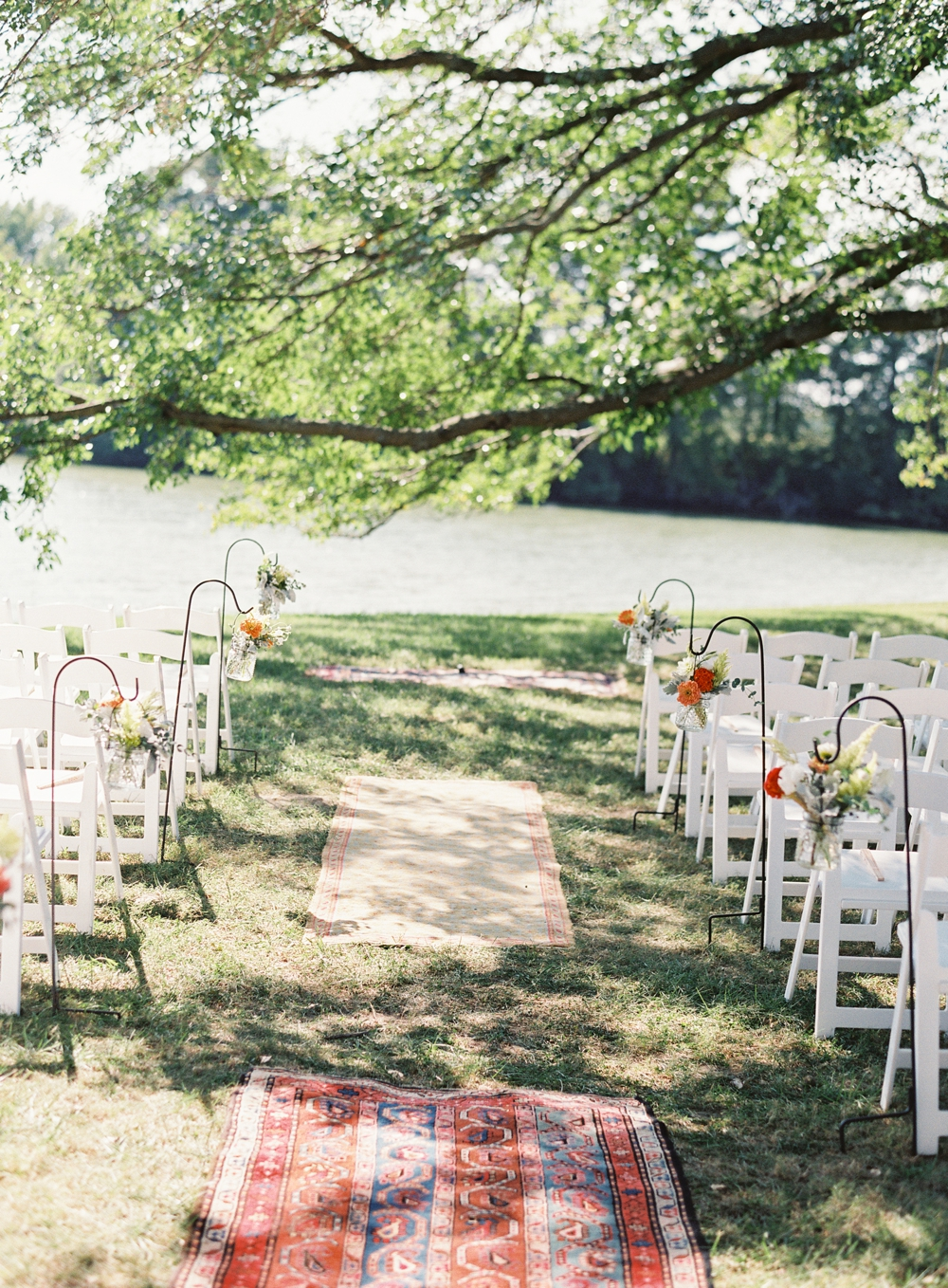 aisle flowers, Vickie Grafton Photography