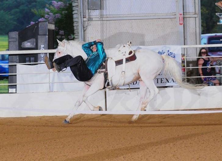 Wild west trick rider Austin Anderson