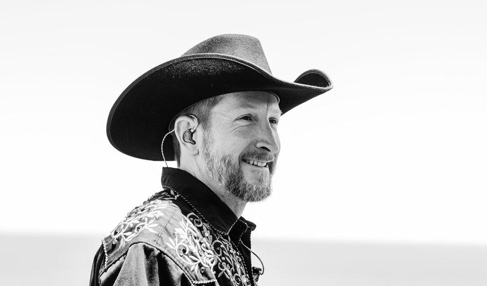 Trick roper and singer songwriter Trevor Dreher. Wild west entertainer.
