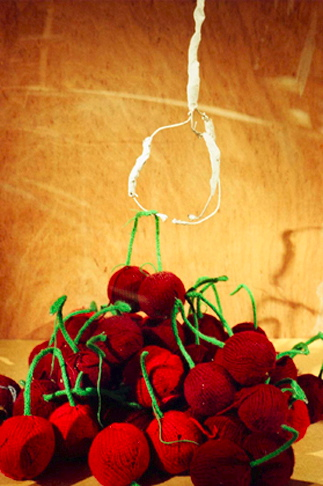 15__unquiet_grave__detail_knitted_cherries__2006