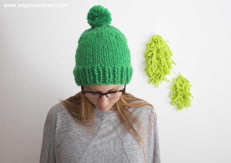 pom pom hat front