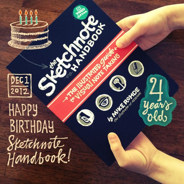 The Sketchnote Handbook's 4th Birthday