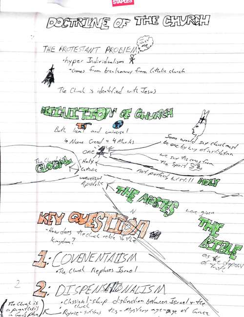 Chad Wollenberg's first sketchnote.