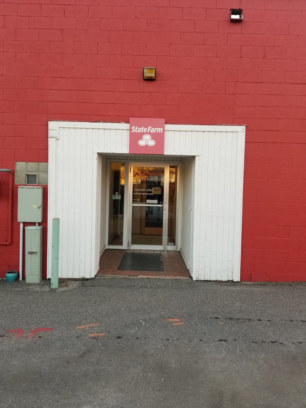 Our entrance is located in the alley of 34 Main Street South, Hutchinson MN. This is the door you are looking for and is the only way to enter our space. We are hoping to have signage up soon!