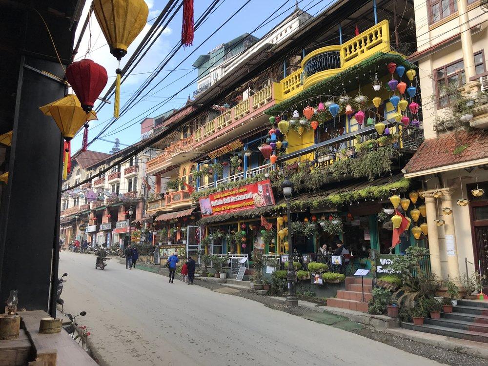 The actual town of Sapa