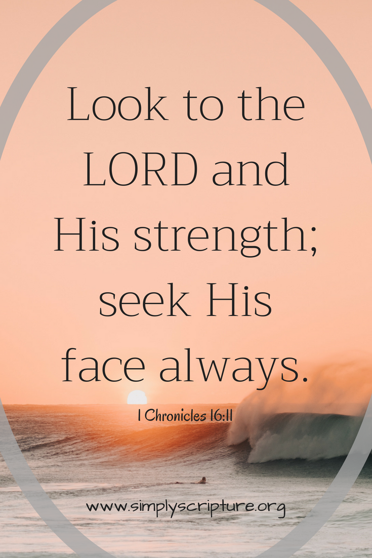 Lord-let me seek your face before I turn to anyone else.