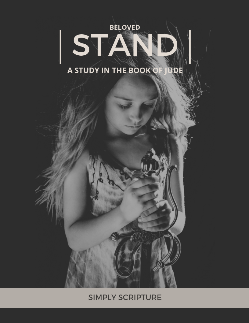 BELOVED STAND - Our culture cries for moral freedom and pushes the social norms to the limit. Is that happening to our churches?? It is crucial in this day and age to be centered on the truths of God's Word as our source of knowledge and understanding or we will be led astray. Do you know how to spot false teaching? Jude will open your eyes to the numerous false ideologies that can secretly creep into your belief system and teach us how to stand in the midst of warfare.Do you know how to stand firm, Beloved?