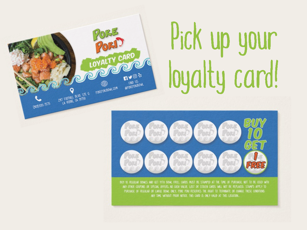 Poke Poki Loyalty Card Buy 10 get 1 FREE